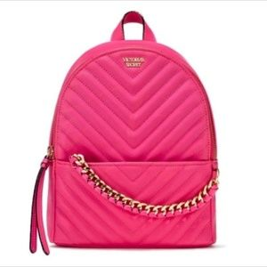 Victoria's Secret Pebbled V-Quilt Small Backpack